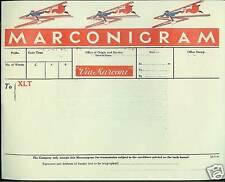 Marconigram-Via Marconi inutilizzati Nero & Rosso telegramma BABBO NATALE