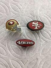 SAN FRANCISCO 49ERS JIBBITZ NFL JIBBITZ 49ERS FOOTBALL HELMET SHOE CHARM JIBBITZ