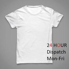 8 x T SHIRT White blank plain tee bulk Mens Heavy Cotton Dispatch on 15 January