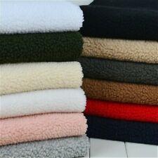 Faux Sheepskin Sherpa Fleece Fabric Material Coat Scarf Shoe Lining Sewing Trim