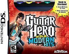 Guitar Hero On Tour Modern Hits (Nintendo DS) COMPLETE GAME & GRIP & SKIN & PICK