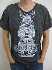 Men's T-Shirt Charm Talisman Magic Yant Tattoo Thai Japanese Casual Cotton Tops