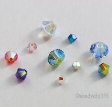 SWAROVSKI Crystal Element 5328 Xilion Bicone Bead AB 2X  SIZE 5mm 6mm 8mm