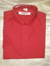 Kinderhemd Jungenhemd kurzarm rot Freizeithemd Party Baumwollhemd Gr.116 158 164