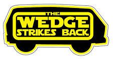 WEDGE STRIKES BACK STICKER vw t25 carravelle panel rat