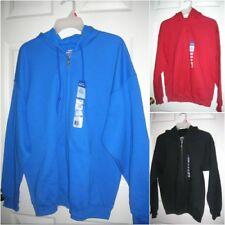 New MensZip Front or PULLOVER Sweat Jacket Fleece GILDAN red blue black T7