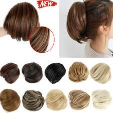 Bun up Do Short Natrual Synthetic Straight Ponytail Elastic Drawstring Clip Hair