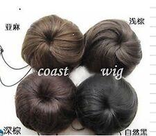 Black Dark Medium Brown Light Blonde Pony Tail Scrunchie Bun Hair Extension