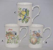 Kirsty Jayne Fine English Bone China Tea or Coffee Mug COUNTRY BIRDS