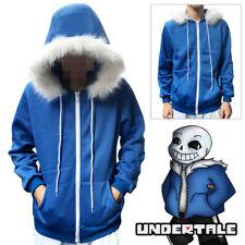 Undertale Sans Cosplay Blue Hoodie Hooded Jacket Coat Sweater Sport Costume Hot