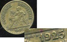 50 centimes   chambre de commerce 1925   ( VARIETE   Le  2 FERMEES  )