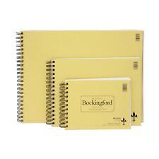 Hot pressed bockingford watercolour paper pads spiral bound R K Burts fat pad