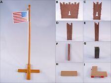 PLAYMOBIL 3023 FORT EAGLE FLAG POLE WALLS FLOORS CONNECTORS PILLAR-PARTS-CHOICE