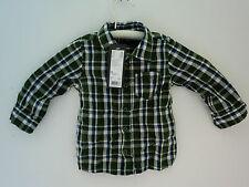 Esprit, Kinder-Hemden, grün/weiß/blau, Gr. 62, 68, 74, 80, 86, 92, kariert,