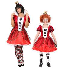 DELUXE QUEEN OF HEARTS COSTUME FANCY DRESS WONDERLAND KIDS ADULTS WORLD BOOK DAY