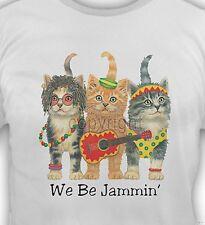 cat shirt, We Be Jammin Kittens T-Shirt, funny cat, Small - 5X, ladies, womens T