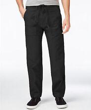 Levi's Negro de Hombre Holgado Pierna Recta Batallón Pantalones 31x32 33x32