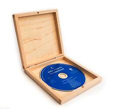 1/10x in legno naturale semplice CD BOX CASE STORAGE in legno scatole forcraft ART DECOUPAGE
