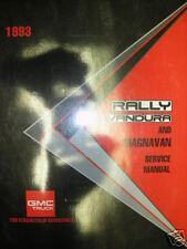 1993 GMC RALLY VANDURA GM SHOP REPAIR MANUAL SERVICE