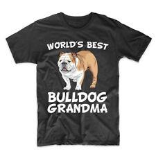 World's Best Bulldog Grandma Dog Owner T-Shirt