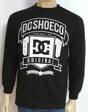 DC Shoes Original Banner Tee Mens Black Long Sleeve Shirt T-Shirt New NWT