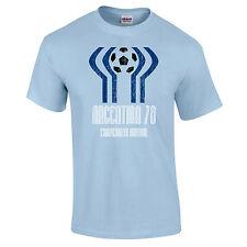Argentina 1978 Retro Football Soccer Vintage Sky Blue Premium T-Shirt S-2XL