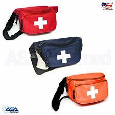 EMT EMS Paramedic Medic Hip Side Fly Fanny Pack Go Bag Navy Blue Red Orange