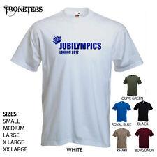 'jubilympics-Londra 2012' Giubileo Della Regina Olimpiadi Divertente T-shirt
