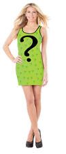 The Riddler Womens Tank Dress Costume Batman Villain Green Tunic Top Sexy