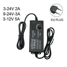Adjust DC Power Supply Adapter Variable Voltage 3-24V Charger EU Plug For Tablet