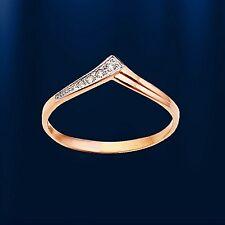 Ring mit Diamanten Russische Rose  Gold 585 Goldring mit Brillanten WUNDERSCHÖN