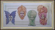 quadro punto croce ricamo anni70 donne di Ertè art deco