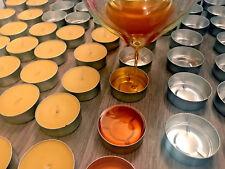 Hand made natural organic beeswax tealights