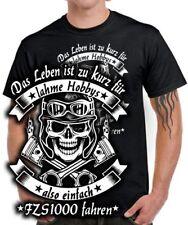 FZS 1000 Tuning Faser T-Shirt LEBEN ZU KURZ HOBBY FAHREN Motorrad Zubehör Teile