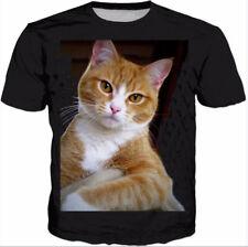 3D Cat Print T-Shirt Women Men Casual Short Sleeve Tops Tee Adult Sportswear New