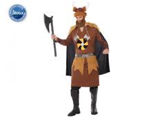 Costume vichingo uomo vestito antoco marrone guerriero storico carnevale 7c0a4f7a6ac