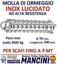 MOLLA PER ORMEGGIO ACCIAIO INOX + MOLLE OFFERTA 2PZ barca barche SCAFI FINO 9 MT
