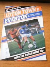13/04/1985 FA Cup Semi-Final: Luton Town v Everton [At Aston Villa] . No obvious