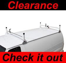 Ford Econoline Van 2 bar 1992-2014 Ladder Roof Racks Steel WHITE Rack (returns)