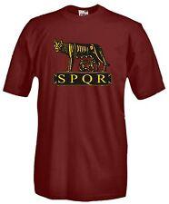 T-shirt Roma Nostra A59 Maglia Cotone Rugantino SPQR Lupa Colosseo Sparita