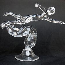 Triathlon Swimmer Swimming Figurine Glass Crystal