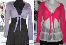 ESPRIT Jacke zum binden Strickjacke rosa Lila Bindejacke jacket