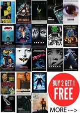 Classic Horror Cult Cool Movie Posters A0-A1-A2-A3-A4-A5-A6-MAXI C433
