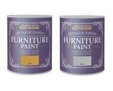Rust-Oleum Metallic Finish Furniture Paint 750ml / 125ml - Silver & Gold