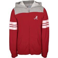 Alabama Crimson Tide - Game Day Sports Stripes Girls Youth Zip Hoodie