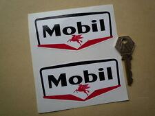 MOBIL Gas Stazione adesivi auto classiche 10.2cm Coppia Distributore benzina