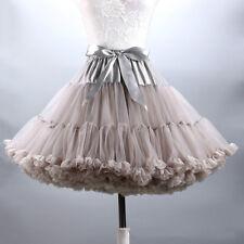 Women Girl Petticoat Crinoline Underskirt Swing Layers Tutu Skirt Lolita Cosplay