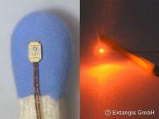 SMD LED 0402 FLACH ORANGE oranje arancio flat style 1.0 x 0.5 x 0.2 mm pre-wired
