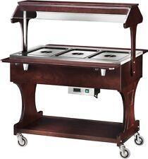 CARRELLO TERMICO in legno per buffet professionale Ristoranti WENGE bagnomaria
