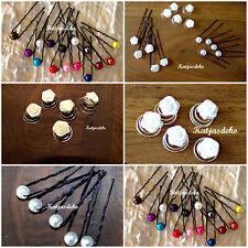 Set`s Curlies Haarnadeln  Nestnadeln Haarschmuck Satin Mini Röschen, Perle
